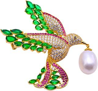 Brooch Eagle Brooch White Freshwater Pearl Brooch Pin