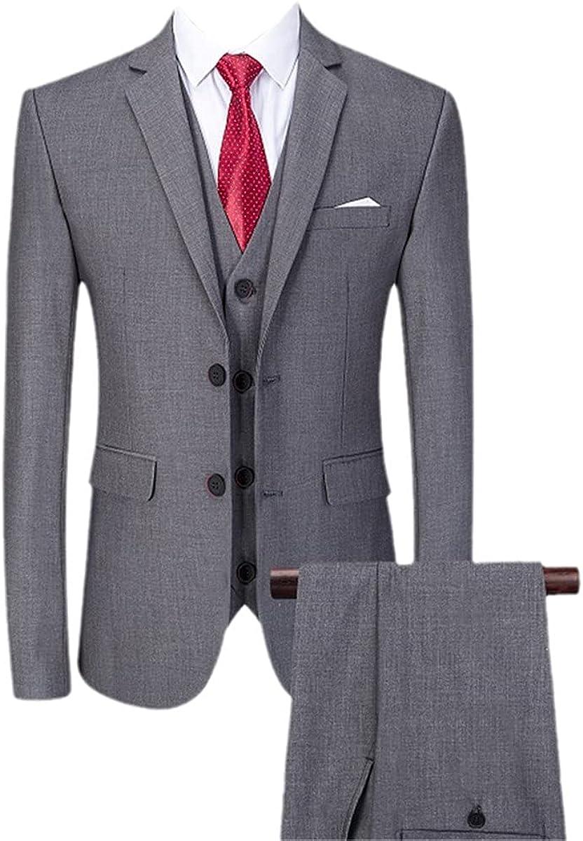 CACLSL Fashion Men's Jacket Pants Design Casual Suit 3-Piece Suit/Men's Suit Trousers Pants Vest
