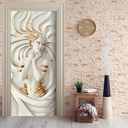 StickerProfis Türtapete selbstklebend TürPoster - GOLDEN Sculpture - Fototapete Türfolie Poster Tapete
