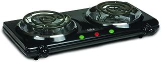 Salton HP1427 Portable Double Cooktop, Black