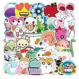 LSPLSP Bonita Pintura de Dibujos Animados monopatín Impermeable Maleta de Viaje teléfono móvil Pegatina de Equipaje Lindos Juguetes para niñas y niños 50 Uds