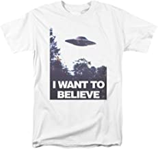 X-Files I Want to Believe Aliens UFO T Shirt & Stickers
