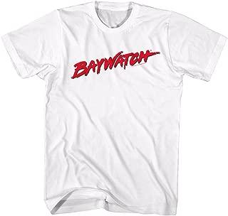 Baywatch 90s Beach Drama Series Red Logo White Adult T-Shirt Tee