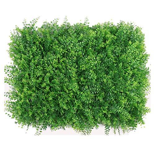 WanuigH-Home Wurzelnackte Grün Hedging Künstliche Buchsbaumhecke Mat Pflanzen Panels Privacy Screen UV-Schutz 12 Stück Baum Pflanzen (Farbe : Grün, Größe : 60x40cm)