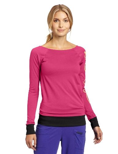 Zumba Fitness LLC Bliss Long Sleeve V-Top, Damen, Mulberry, Small