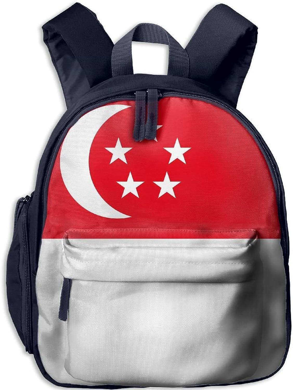 Pinta Singapore Flag Cub Cool School Book Bag Backpacks for Girl's Boy's