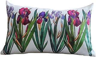 Nunubee Rectangulaire Housse de Coussin en Flanelle Style de Peinture de Fleur de Plante et Animal Taie d'oreiller Origina...
