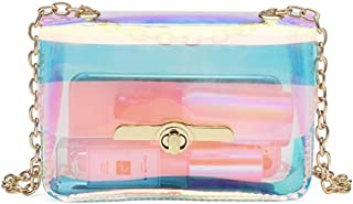 Holographic Message Bags Women's Clear Chain Shoulder Bag Cross Body Bag