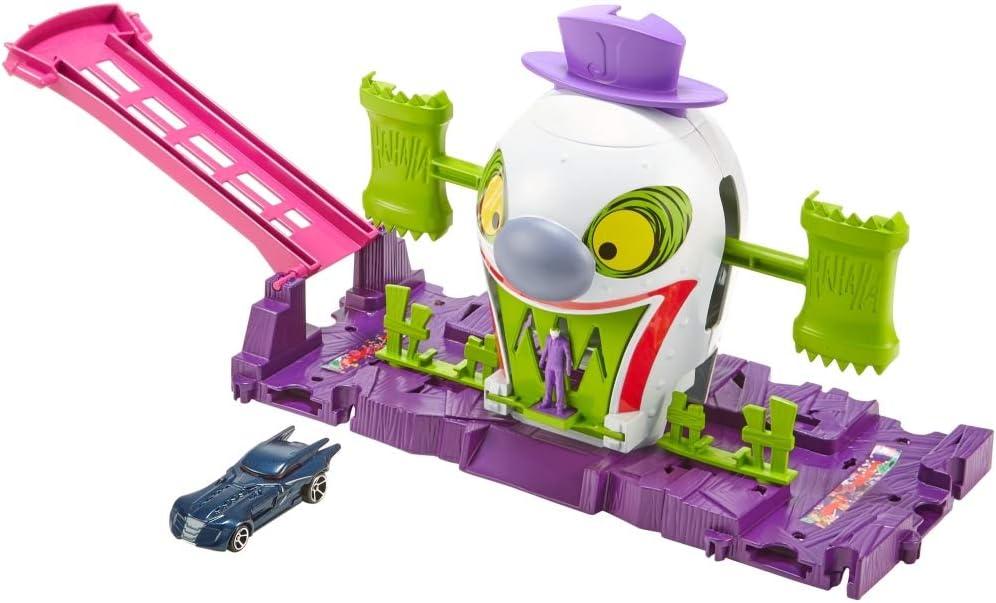 Hot Wheels City DC Batman The Joker Funhouse Playset New Kids Xmas Toy Gift 3+
