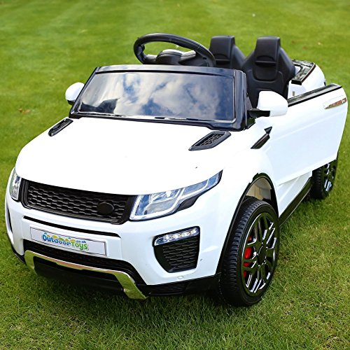 OutdoorToys Ranger SUV Jeep Style 12v Child's Ride On Car with Parental Remote Control (White)