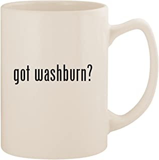 got washburn? - White 14oz Ceramic Statesman Coffee Mug Cup