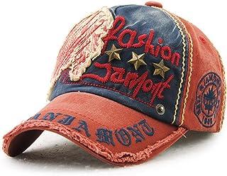 Tioamy Gorra de béisbol Unisex Ajustable Hat Retro Baseball Cap Algodón Fashinable Ocio Carta Sombrero Exterior para Hombr...