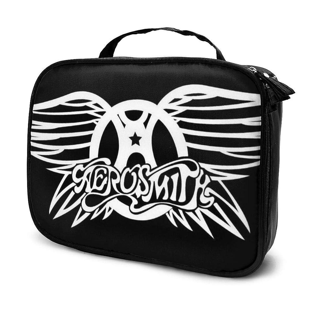 水曜日生息地不確実化粧ポーチ Aerosmith 女性化粧品バッグ ビューティー メイク道具 フェイスケアツール 化粧ポーチメイクボックス ホーム、旅行、ショッピング、ショッピング