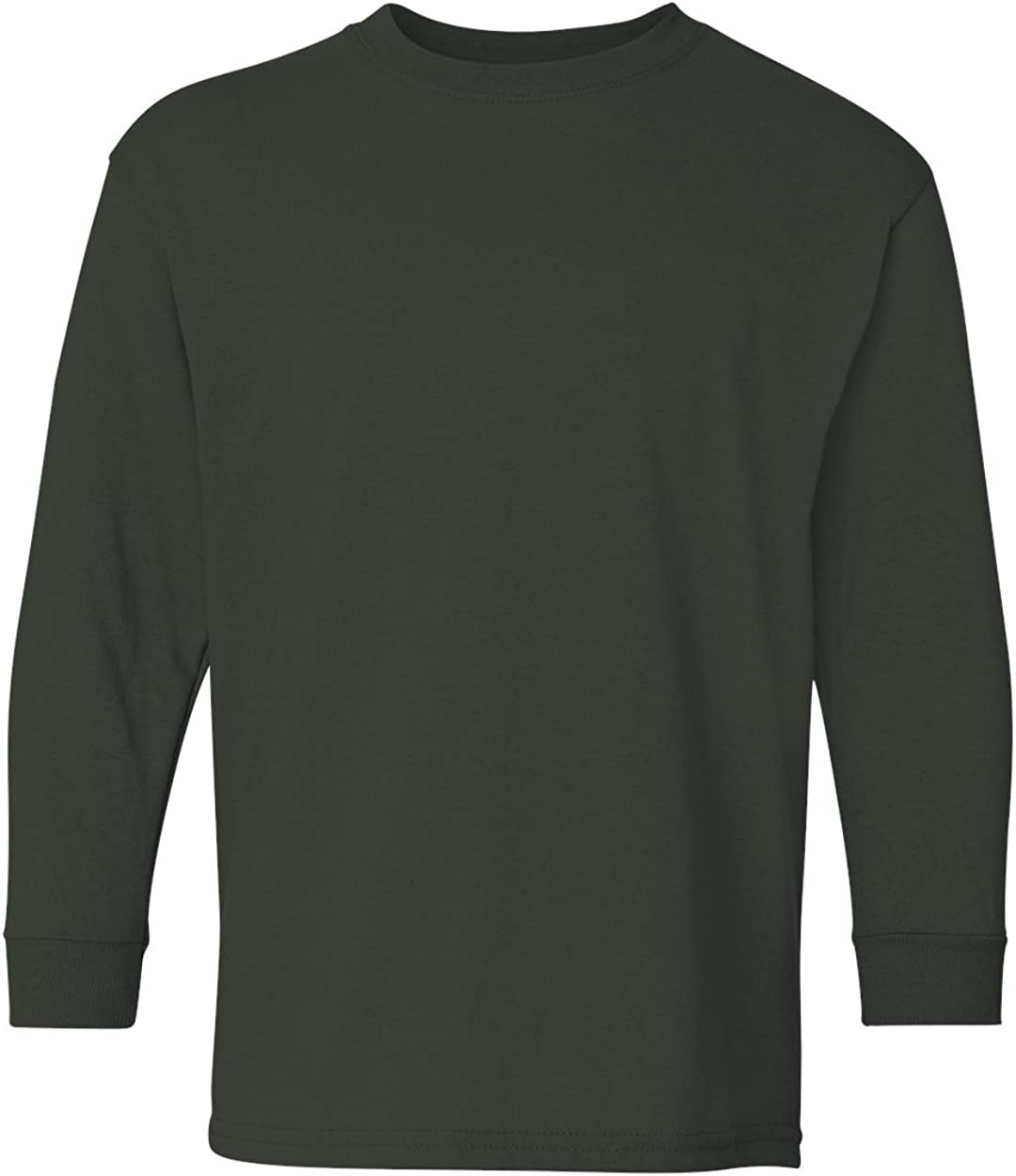 Heavy Cotton Long-Sleeve T-Shirt (G540B) Forest Green, M (Pack of 12)