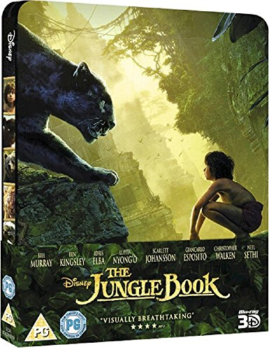 The Jungle Book 3D (Includes 2D Version) - Limited Edition Steelbook Blu-ray