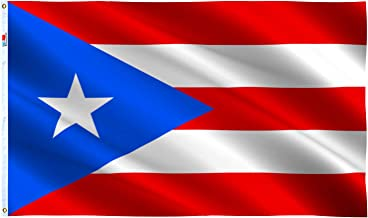rhungift Puerto Rico Flag 3' x 5' Ft,Canvas Header and Double Stitched - Brass Grommets for Easy Display,Vivid Color and U...
