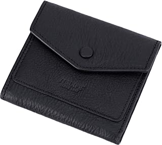 Itslife Women's Small Leather Wallet RFID Card Holder Compact Ladies Billfolds Flat Pocket Purse (Natural Black)