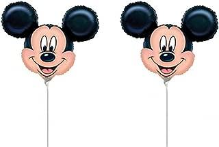 Broward Balloons Disney Mickey Mouse Head Mini Shape 14 Inch Balloons (Qty 2)