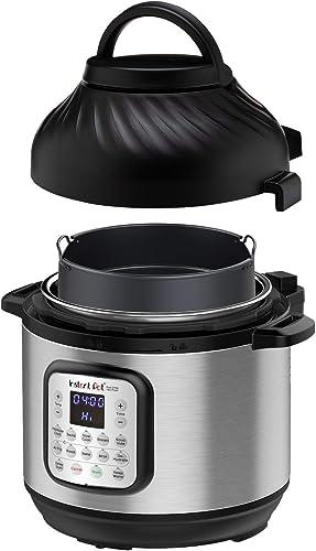 Instant Pot Duo Crisp Pressure Cooker 11 in 1 with Air Fryer, 8 Qt, Cook and Crisp
