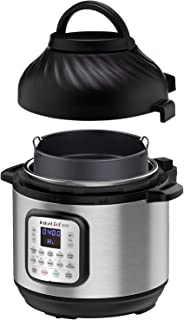 Instant Pot Air Fryer + EPC Combo 8QT Electronic Pressure Cooker, 8-QT, Black/Stainless Steel