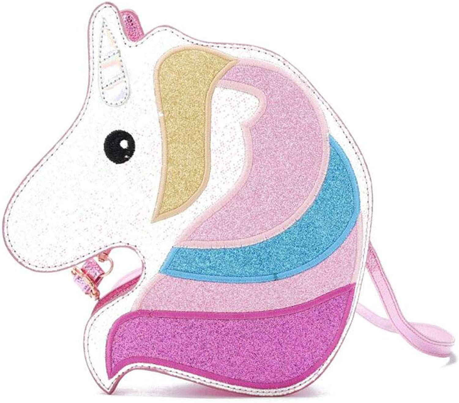 Holographic Unicorn Crossbody Purse Bag for Teens Girls Women Novelty Glitter Handbag