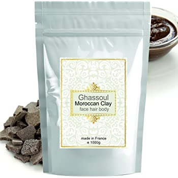 Rasul Body Mud Ghassoul (rhassoul) Authentic Clay Atlas 1kg Exquisite spa quality mineral-rich clay from Morocco - Face, Hair, Body Detox