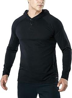 TSLA Men's Dynamic Cotton Cool Casual Active Shirt 3/4 Sleeve/Long Sleeve
