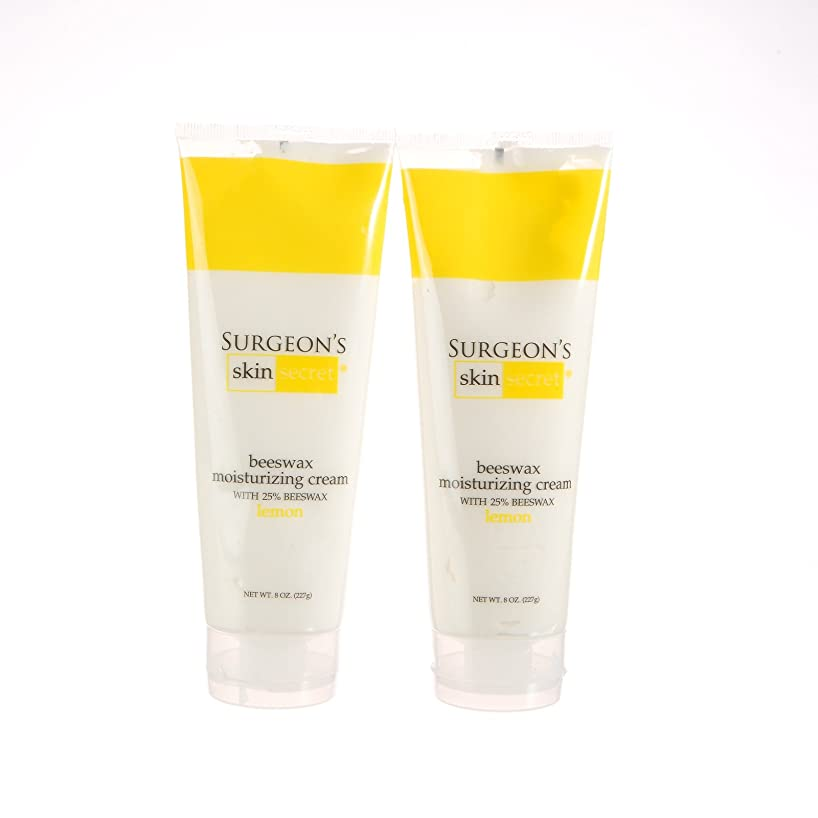 25% Beeswax Cream 8oz Squeeze Tube - Lemon - 2 Packs