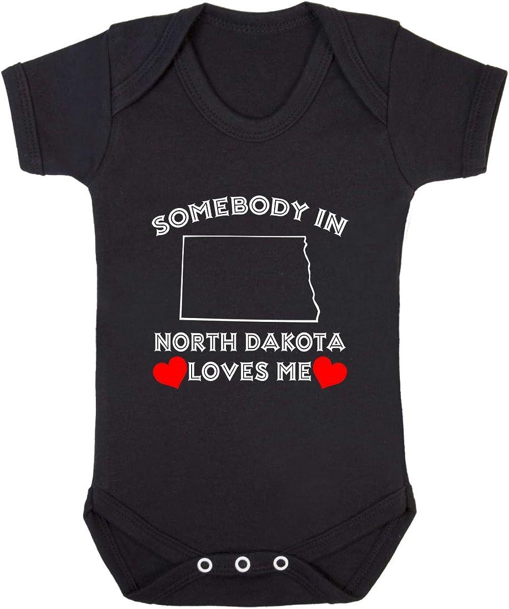 Baby Bodysuit Somebody in North Dakota Genuine Free Shipping Loves Me Funny Cotton Boy New York Mall