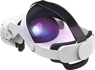 Oculus Quest 2 Elite ストラップ、 調整可能なOculus Quest 2 ストラップ vrゴーグル ギアを調整する VRヘッドバンド-フォームクッションヘッドバンドは、重力のバランスを取り、頭の圧迫を緩和し、サポートと快適...