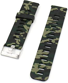 YANRAN 22mm Watch Band Strap Replacement Bracelet Silicone Watchband Straps for Samsung Gear 2 Samsung Gear S3 Pebble Time Moto 360 2nd 46mm LG G Watch W100 W110 Urbane (Green cam)