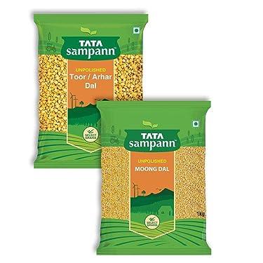 Tata Sampann Combi Pack -Toor Dal 1 kg + Moong Dal 1 kg