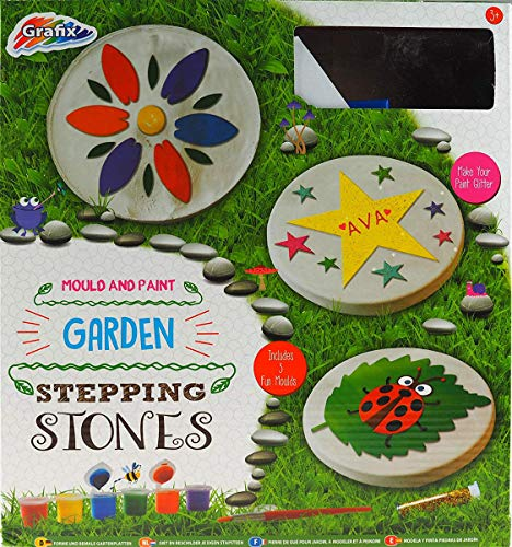 Mould and Paint Garden Stepping Stones Kit