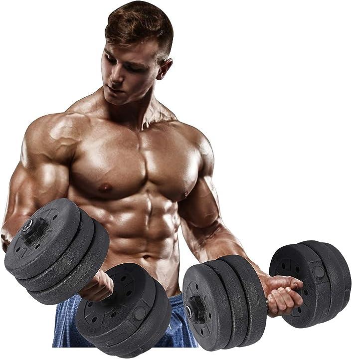 Set manubri regolabili manubri palestra regolabili gym set per home gym fitness ycs 20kg/44lbs ycs B08QCZ1V9J