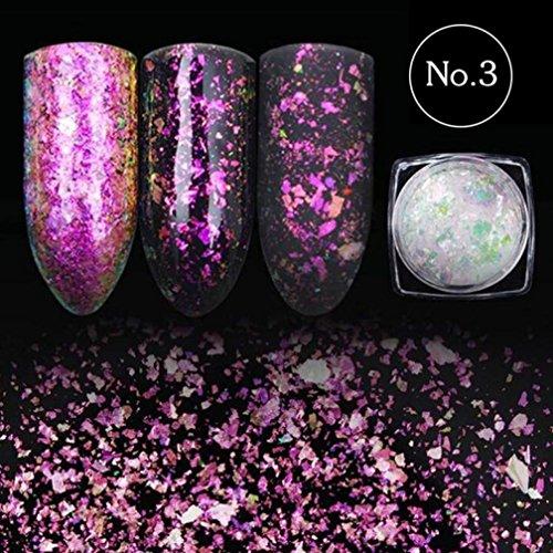 Tefamore Nail Sequins Glitter Paillette transparente éblouissante Manicure Nail Deco