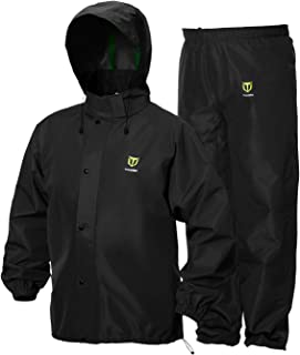 TideWe Rain Suit, Breathable Waterproof Durable Sport Rainwear (Black Size L)