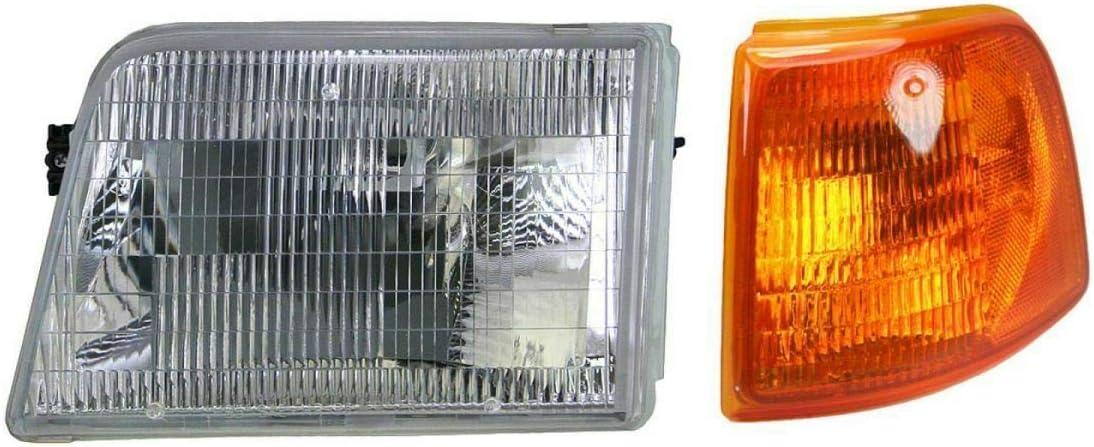 Headlight Corner Light Lamp Kit Driver Side Left アウトレット LH マート Compatible w
