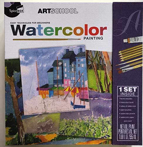 Watercolor Painting Kit with 33 Items (Art Enthusiast)