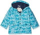 Hatley Boys Printed Rain Jacket, Blue (Shark Alley), 2 Years