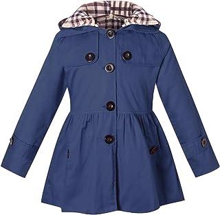 BINPAW Girl's Hooded Trench Coat