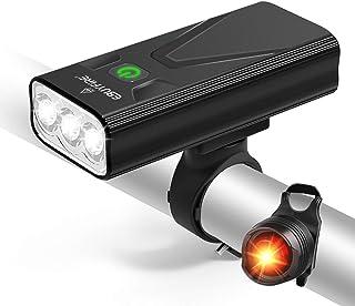 EBUYFIRE USB oplaadbare fietsverlichting set, 3000 lumen fiets koplamp 3 LED 【Upgrade Mount】, super heldere koplamp voorli...