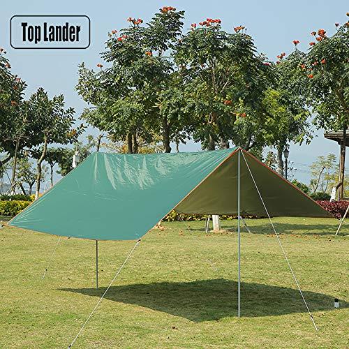 LXJ-KLD Al Aire Libre del paño Fuentes Que acampan a Prueba de Lluvia Sombra Cielo Revestido de Plata Playa Protector Solar Dosel de Dos tamaños están Disponibles,300 * 400cm