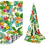 Tropical Beach Towel, Pineapple Microfiber Beach Towel Oversized, Palm Leaves Bath Towel, Large Beach Towel for Women Adults, Sand Free Beach Towel for Travel Bath Yoga 31 x 60