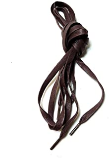 Coffee brown waxed flat shoelaces 23'' 31'' 35'' 39'' 43'' 47'' 54