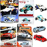 Customs VW Flying Beetle Special Bundled with Volkswagen Jetta Modern Classic Cars + Matchbox Convertible Bug City + Baja Boulevard Exclusive 4 Items