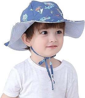 7c1f724e400 Connectyle Kids Reversible Bucket Sun Hats Large Brim UPF 50+ Sun  Protection Hat