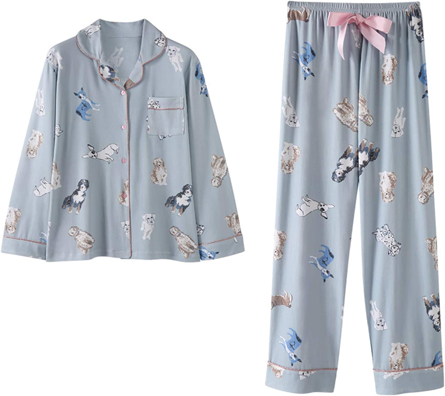 Autumn Winter Knitted Long Sleeve Pajamas Cute Stylish Warm Loungewear with Collar Home Daily Bedroom Livingroom Outwear,Girls Gift