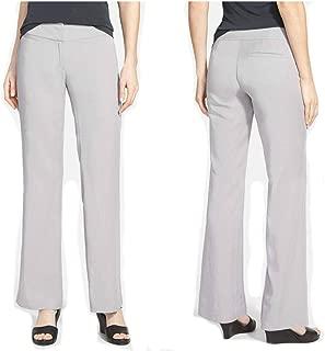 Tencel Twill Silver Gray Wide Leg Trouser Pants 6