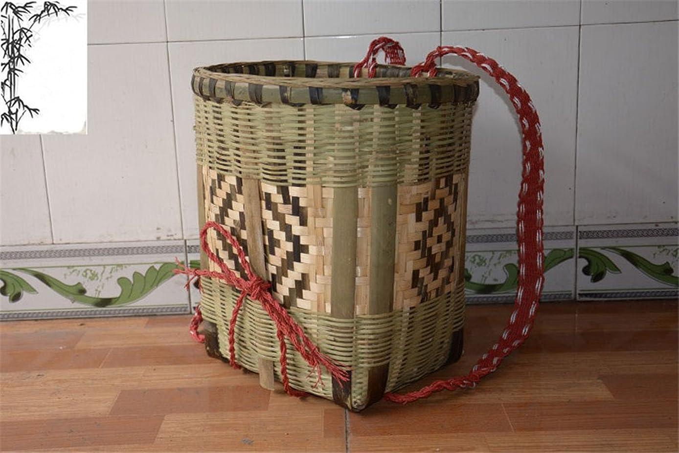 略すトチの実の木概念gannbarou 竹製背負いかご 背負い籠 リュック 山菜採り 背負いひも付き