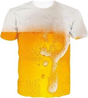 chicolife, Unisex 3D gráfico Impreso Verano Casual Manga Corta Camisetas Tees